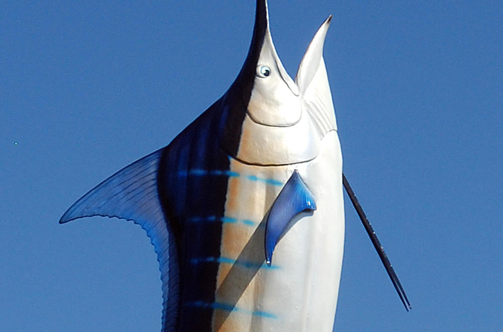 The Giant Marlin Monument