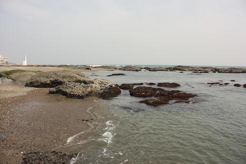 Gathering shellfish, crabs, etc…