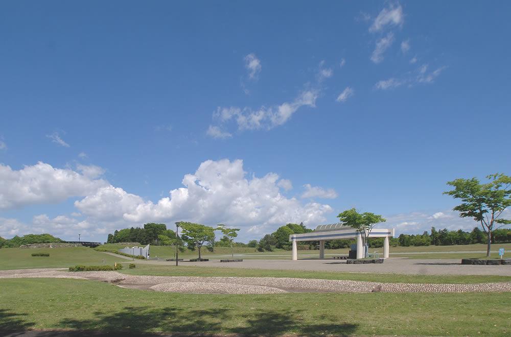 大洗町総合運動公園 運動場と公園