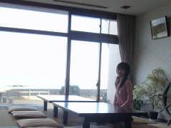 館内から見る太平洋