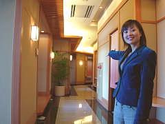 和風旅館の館内 食事処 水輝