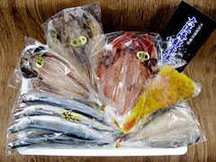 大洗海鮮市場の海産物