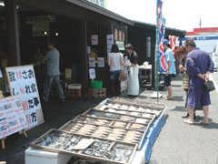 大洗海鮮市場の店内の雰囲気