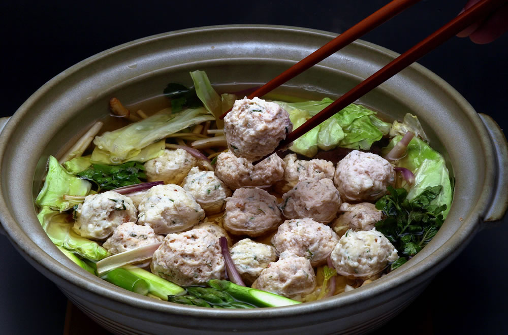 Hot pot with plum-flavored red snapper