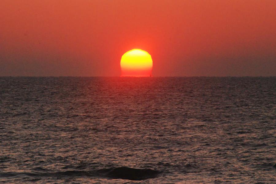 大洗海岸的元旦日出