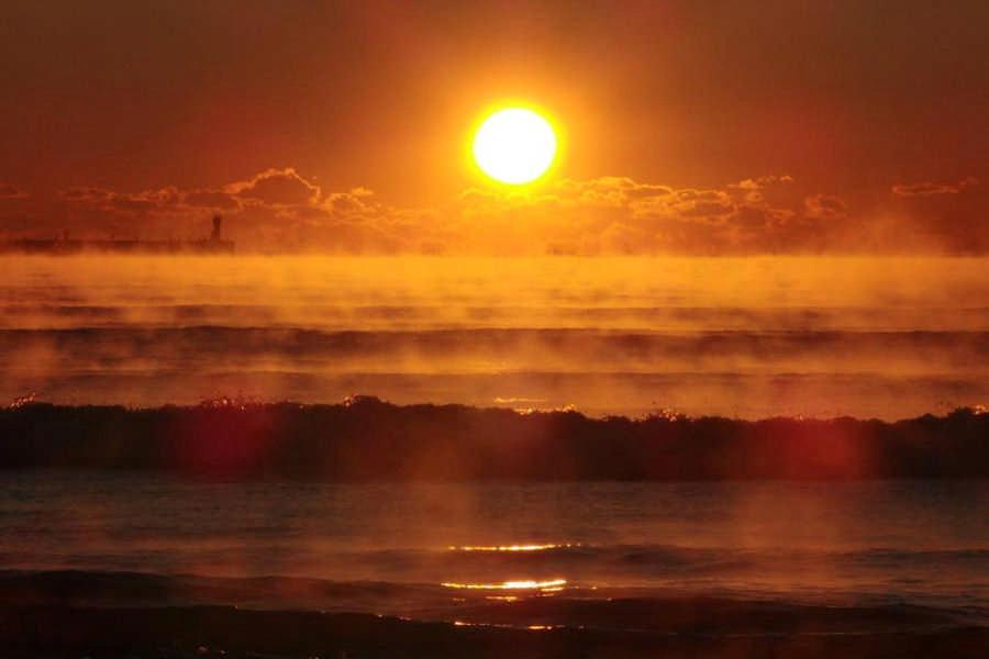 冬天的海雾(摄影:伊藤哲司)