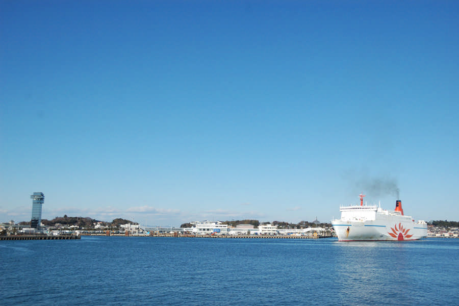 Oarai seen from the sea