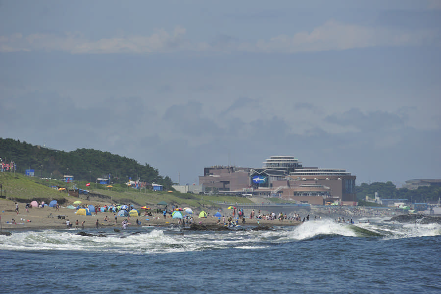 Aqua World Oarai seen from the sea
