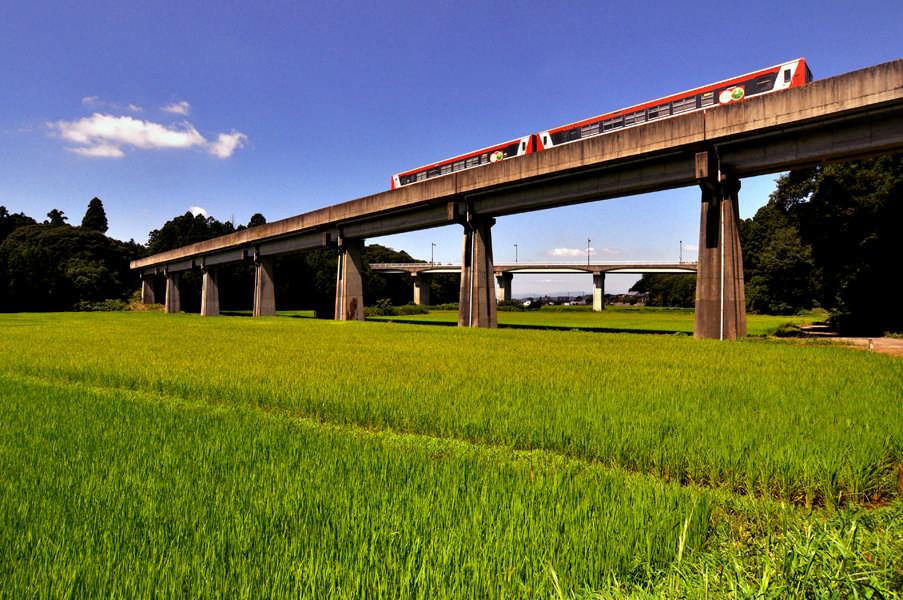 大洗鹿島線と田園