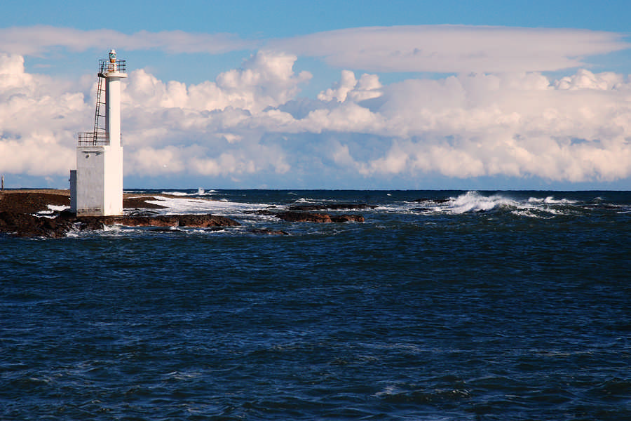 Clouds and Isohama lighthouse