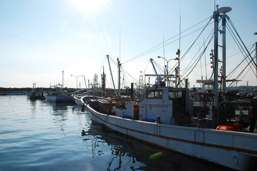 Quiet fishing port