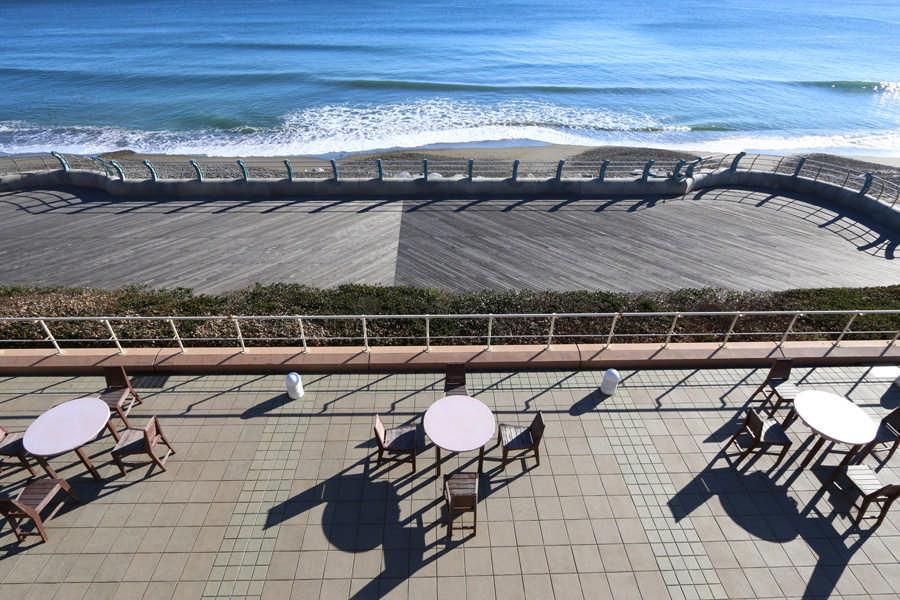 水海洋世界茨城县大洗水族馆前的大海