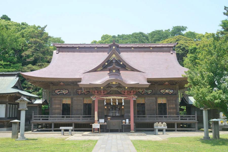 大洗矶前神社拝殿
