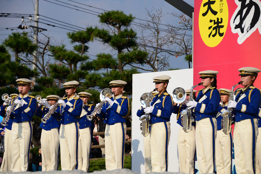 Oarai High School Marching Band BLUE-HAWKS