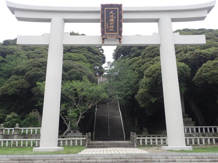 大洗磯前神社 二之鳥居の正面