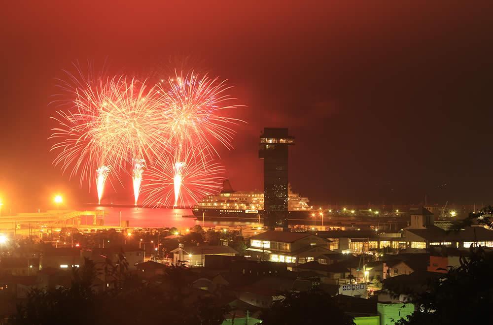 오오아라이 해상 불꽃축제 (大洗海上花火大会)