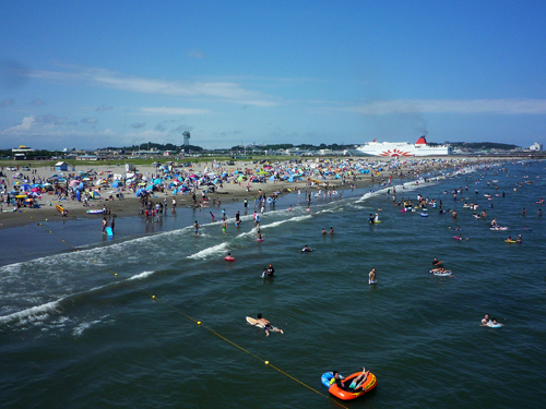 Oarai Sun Beach swimming area