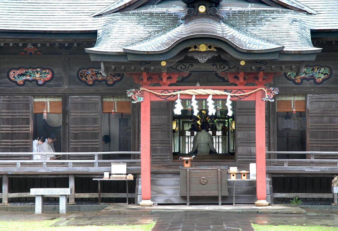 磯前神社 祈祷